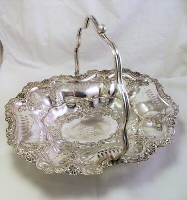 Silver Plate Basket - St. Georges Road Presbyterian Church Glasgow 1900