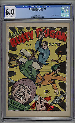 Holyoke One Shot # 2 CGC 6.0 FN OW Pages Scarce Book Rusty Dugan Cover