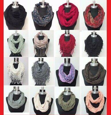 US SELL NEW Women Winter Infinity Scarf Wrap Cowl Circle Loop Scarves Soft Warm