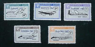 Guernsey Sark, Set Of Stamps, Europa (Aircraft) Issued 5th May 1967