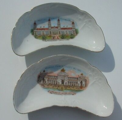 Vintage Antique St Louis MO 1904 World's Fair Bone Dish Lot Made in Germany
