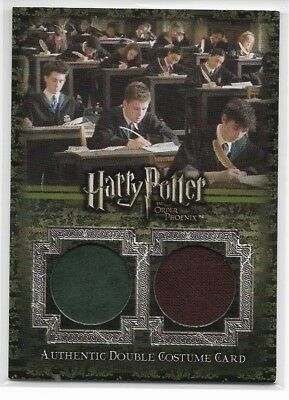 2007 Harry Potter Order Of The Phoenix Update Dual Costume Card