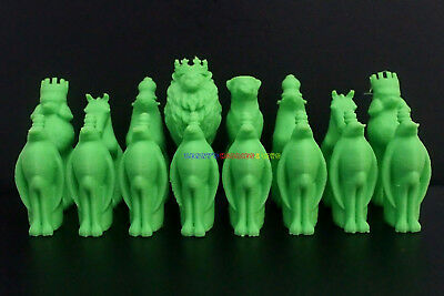New Plastic Animals Chess Set 32 Pieces (Pieces Only) King 7.1cm, Pawn 5cm Ht.