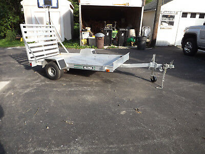 Used Aluminum Trailer with ramp 4.5 ft X 8 ft