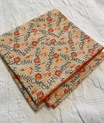 """LONGABERGER  36"""" HAPPY HALLOWEEN Fabric tablecloth Square -NEW"""