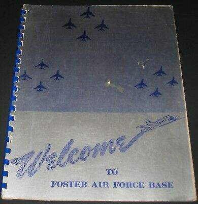 1950's  WELCOME TO FOSTER AIR FORCE BASE  Texas DIRECTORY 450th Fighter-Day Wing