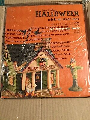 Dept 56® SNOW VILLAGE HALLOWEEN THE SCARECROW HOUSE - BRAND NEW SEALED IN CASE
