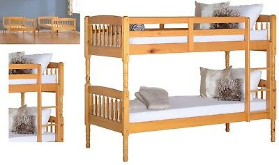 Albany Antique Pine Wood Bunk Bed Can be Split into 2 Single 3ft Beds