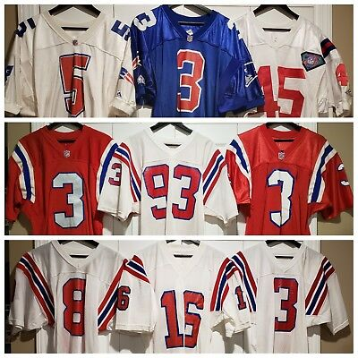 6e0040e9ab6 New England Patriots Vintage Team Issued Jersey Lot Apex Sand Knit Champion.