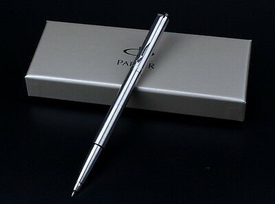 NEW IM STEEL METAL SILVER ROLLERBALL PEN WRITES BLACK Ink-Not Boxs