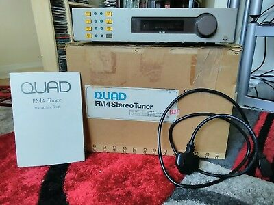 Quad FM4 Stereo Tuner Boxed with Instructions Manual