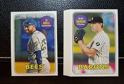 2018 Topps Heritage Minors SHORT PRINT You Pick Choose 201-220 Adell Riley SP