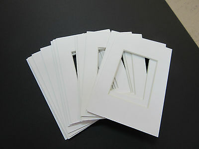 Picture Frame Mat 4x6 for 3x5 photos set of 12 Acid Free White mats