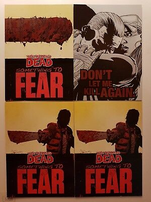 2013 Cryptozoic The Walking Dead series 2 Insert lot of 4 cards