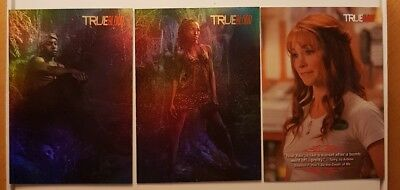 2012 HBO True Blood Insert lot of 3 Cards