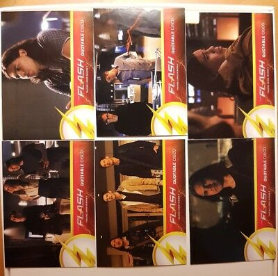 The Flash DC Season 2 Tv series card lot of 6 quotable insert cards