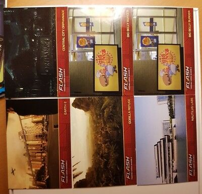 The Flash DC Season 2 Tv series card lot of 6 Location insert cards