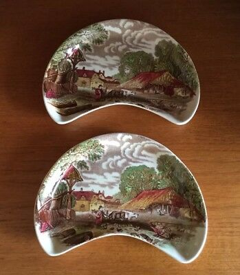 Pair Of Rare Vintage Side Plates Royal Staffordshire By Clarice Cliff