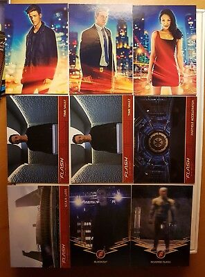 The Flash DC Season 1 Tv series card lot of 9 insert cards