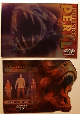 InkWorks Journey to the Center of the Earth 3D Insert Card Lot of 2 cards