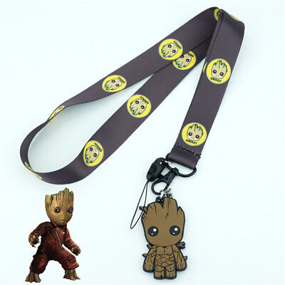 Guardians of the Galaxy Groot Lanyard Neck Strap Charms Cell Phone Rope KeyChain