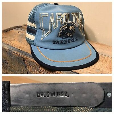 Vintage UNC Tarheels University North Carolina 3 stripe hat snapback USA rare NR