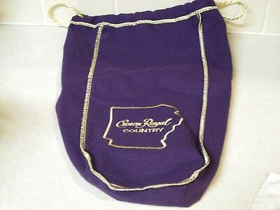 Limited Edition Crown Royal Country ARKANSAS 1.75 L Purple Bag