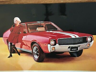 Stunning 1968 Amc Amx Stunning Red Two Seat Beauty 11X17 In Photo Poster