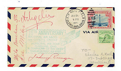 1935 N.a.r. Cover Signed By Four Iconic Golden-Age Aviation Pioneers