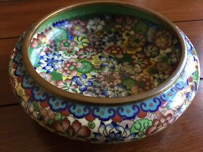 Antique Chinese Cloisonne Bowl Beautiful Condition