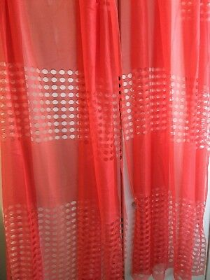 Vintage Retro 1960's 1970's Net Curtains ~ Ready To Hang ~ Netting Pair