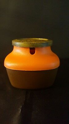 ☕RETRO BROWN/ORANGE SUGAR CANISTER - CAPRI by ACMIL MOULDINGS - PRE-OWNED