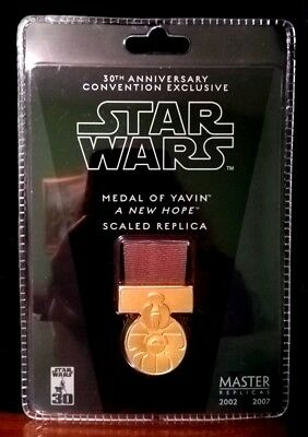 MEDAL OF YAVIN, SW-361, 30th Anniv. Convention Exclusive, Master Replicas, 2007