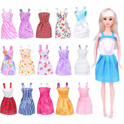 Pack of 16pcs Barbie Doll Clothes Party Gowns Set - Random Styles