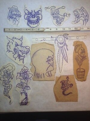 CAPTAIN DON LESLIE's TATTOO DRAWING VTG USA TRANSFERS GREG IRONS? LYLE TUTTLE?