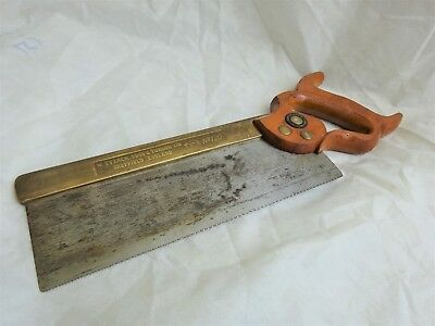 """10"""" Brass Back Tennon Saw No 120 by W.Tyzack Sons and Turner Sheffield."""