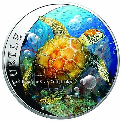 2018 Niue Hawksbill Turtle - 1 Ounce Pure Silver .999 Coin!