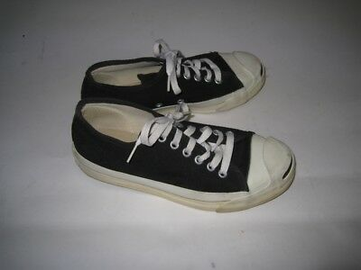 5ba737728a36 VINTAGE BLACK CONVERSE JACK PURCELL Low Sneakers USA MADE Size 5 ...