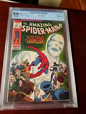 Amazing Spider-Man 80 9.6 CBCS Off- White White pages