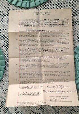 Vintage Rare 1942 Goodyear Aircraft Corporation Wage Agreement, .50 Cents Hour