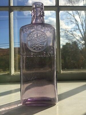 AMETHYST BONNIE BROTHERS - LOUISVILLE , KY WHISKY BOTTLE -C.1880s