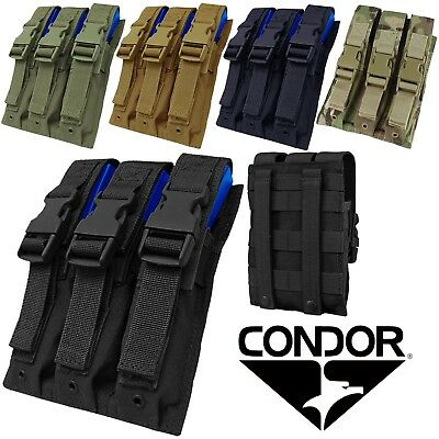 Condor MA37 Tactical MOLLE Modular Triple P5 9mm Extended Magazine Utility Pouch
