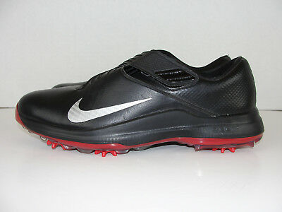 22fff0b643fd57 Nike TW 17 Tiger Woods Golf Shoes Spikes Black Red  200 880955-001 Mens 9.5