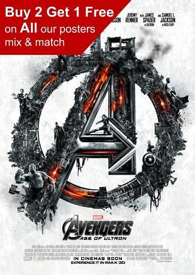 Avengers Age Of Ultron Teaser Poster A5 A4 A3 A2 A1