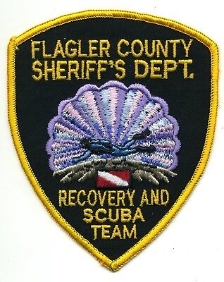 Flagler County Florida - Recovery Scuba Team - Dive patch - police sheriff fire