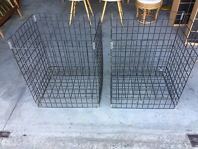 2 Foldable Wire Storage Display Stillages Industrial Both For $20 Buy Now