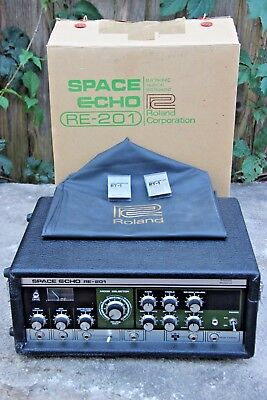 Vintage 1970's Roland RE-201 Space Echo Super Clean In BOX - Cover & NOS Tapes