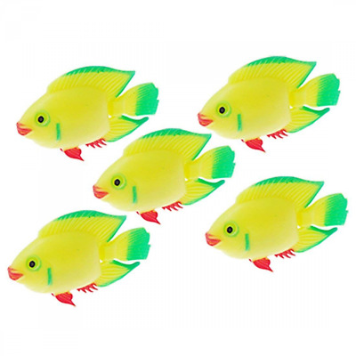 Sourcingmap Plastic Float Fish Aquarium Tank Decoration, Yellow/Green