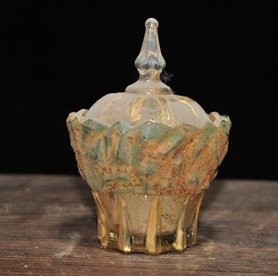 chinese old temple be unearthed Buddhism crystal Buddhist relics pot