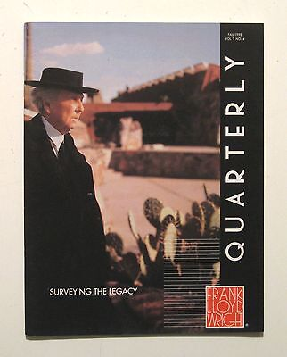 FRANK LLOYD WRIGHT Quarterly ARCHITECTURE Preservation TALIESIN FLW Archives